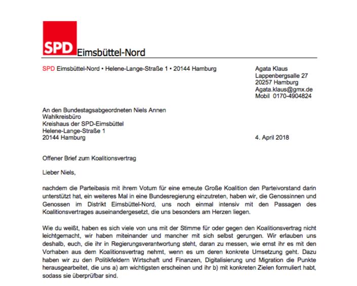 Ein Offener Brief Zum Koalitionsvertrag An Niels Annen Spd